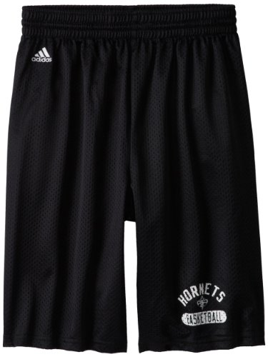 NBA New Orleans Hornets Men's Venice Beach Basketball Basic Mesh Short, Black, Large