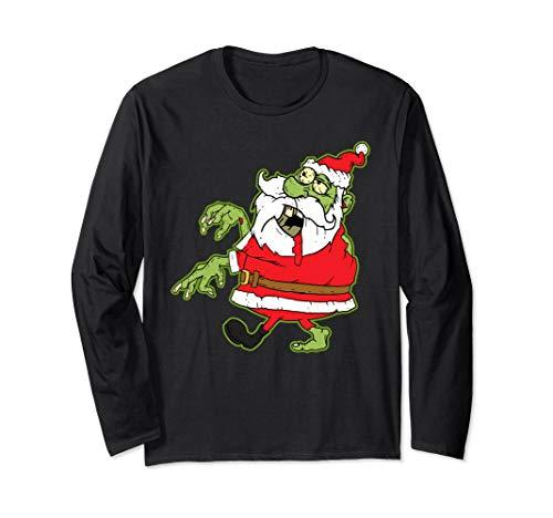 Zombie Long Sleeve Shirt - Funny Christmas Gift Men - Sleeve Zombies Funny Long