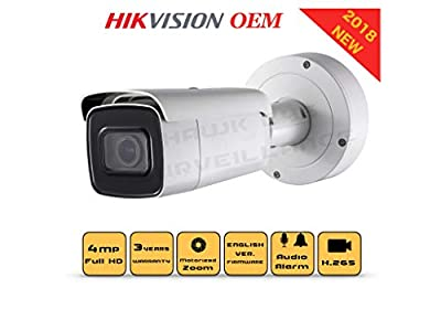 4MP PoE Security IP Camera - Compatible as Hikvision DS-2CD2642FWD-IZS Varifocal Bullet,Indoor and Outdoor,Motorzied Lens 2.8-12mm IR Night Vision English Version 3 Year Warranty from hikvision