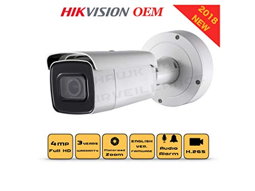 4MP PoE Security IP Camera – Compatible as Hikvision DS-2CD2642FWD-IZS Varifocal Bullet,Indoor and Outdoor,Motorzied Lens 2.8-12mm IR Night Vision English Version 3 Year Warranty