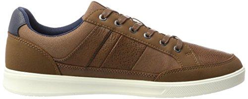 amp; Cognac Pu Braun JACK Herren Cognac JONES Mix Jfwrayne Sneaker PUFOZwx