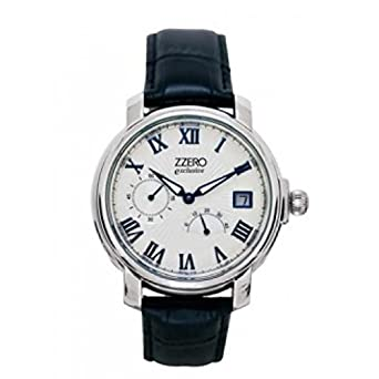 Uhr Zzero Automatic zm1924b Schalter Stahl Quandrante Silber Armband Leder