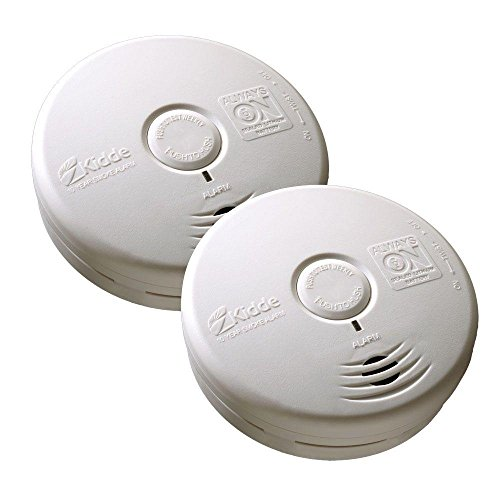 Kidde 21026555 Twin Pack Worry Free 10 Year Living Area Smoke Alarm