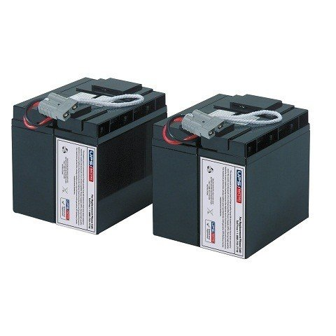 UPSBatteryCenter Replacement battery set for SUA2200XL-NETPKG by UPS Battery Center