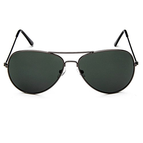 Armear Oversized Classic Retro Metal Frame Non-polarized Aviator Sunglasses 57mm (Dark green, - Aviator Sunglasses Net