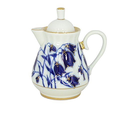 Lomonosov Porcelain Creamer Milk Jar Blue - Creamer Porcelain Lomonosov