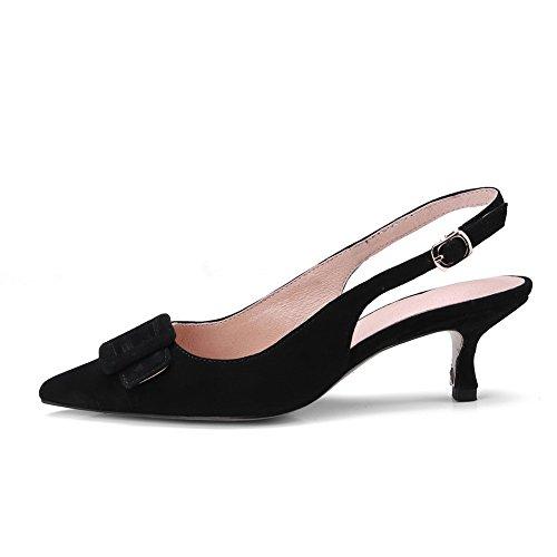 AN Womens Sandals Closed-Toe Huarache Urethane Sandals DIU00699 Black KdCyyqYU