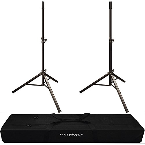 2x Ultimate Support TS-70B Classic Speaker Stand with Padded Dual Tripod Tote