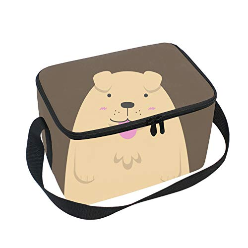 - Cute Big Fat Golden Retriever Dog Picnic Storage Bag Lunch Box Food Bag Cooler Warm Pouch Tote Bag for School Work Office