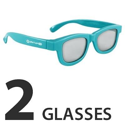 Kids Blue 3D Passive Glasses for Movie Theaters, TVs & Projectors (Quantum 3D)