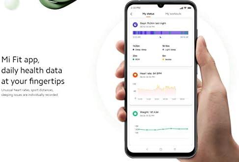 Xiaomi Mi Smart Band 5 (2020) Pantalla a color AMOLED de 1,1 pulgadas, pulsera impermeable IP68 BT 5.0 Fitness, Sleep, frecuencia cardíaca 24/7, deportes, natación, rastreador de salud (modelo global, negro) 9