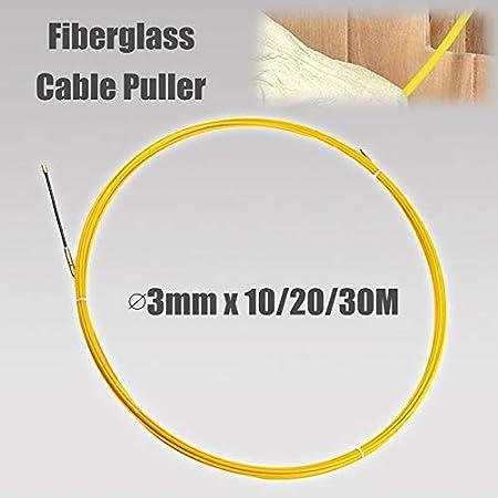 Domeilleur 10//20//30 m 3 mm Fiberglaskabel Push Pullers Kanal Snake Rodder Fish Tape Wire 10 m
