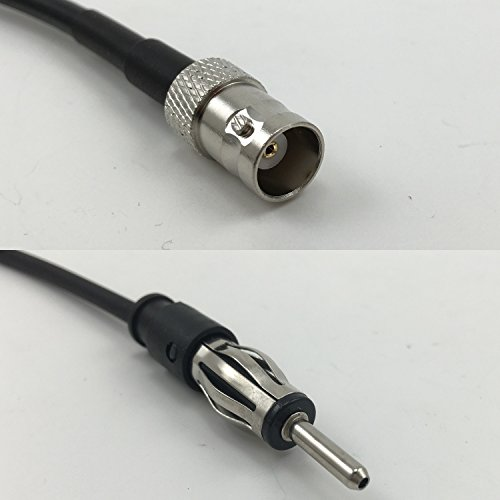 3 feet RG188 BNC FEMALE to AM/FM MALE Pigtail Jumper RF coaxial cable 50ohm High Quality Quick USA Shipping (Rg188 Cable Coaxial)