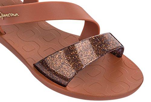Ipanema Toe Heel No Detail Women's Shimmer Strap Vibe Bronze Sandal Post rUCwr8xqg