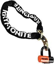 Kryptonite 999546 Black 12mm x 51, New York Noose Chain and Orange 14mm Evolution Series 4 Disc Lock