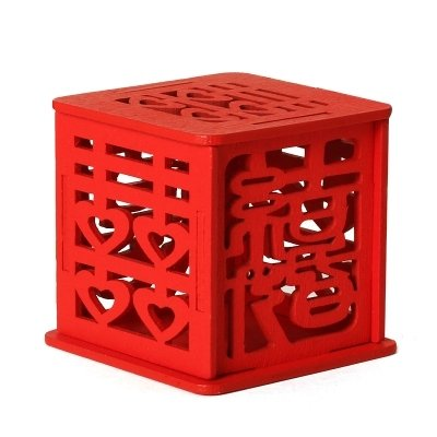 12pcs Double Happiness Vintage Chinese Style Wooden Unique Sweet Box Wedding Favors holders Wedding Candy Box