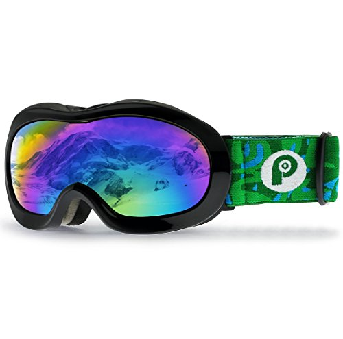 PP PICADOR Kids Ski Goggles, Kid Snow Snowboard Goggles for Boys Girls 4-7 with Over Glasses OTG Design Anti-Fog Lens 100% UV Protection Helmet Compatible