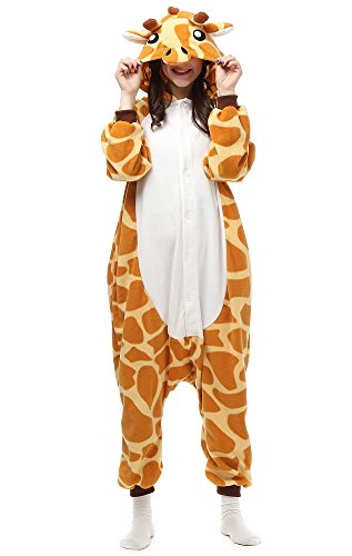 Laidisi Novelty Costumes Pyjamas Unisex Adult One-Pieces Cosplay Jumpsuit Giraffe (Giraffe Suit)
