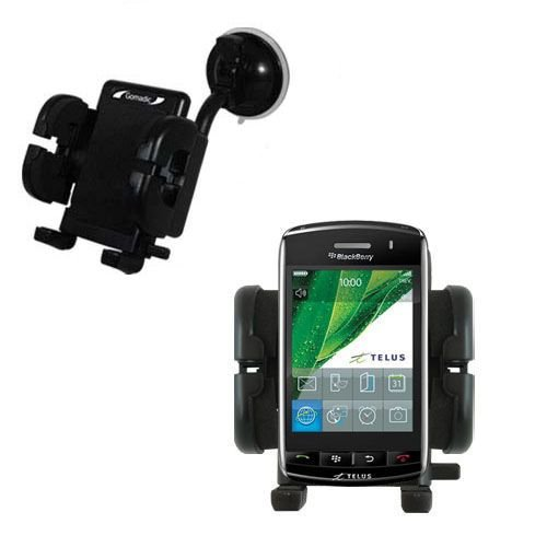 Windshield Vehicle Mount Cradle suitable for the Blackberry Storm - Flexible Gooseneck Holder with Suction Cup for Car / ()