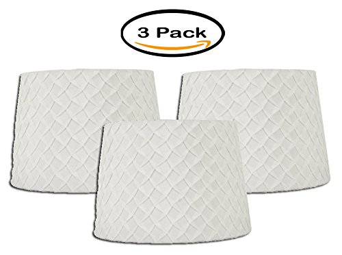 Pack of 3 -Better Homes and Gardens White Pleated Table Shad