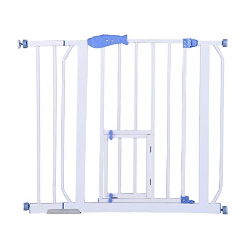 Safety Gates Baby Stair Fence Barrier Pet Dog Gate Door Ramp Guardrail Isolation White