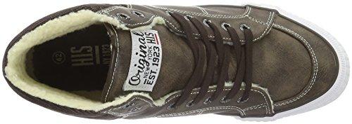 HIS Ct18-031 - Zapatillas Hombre Marrón - Braun (Dk Brown)