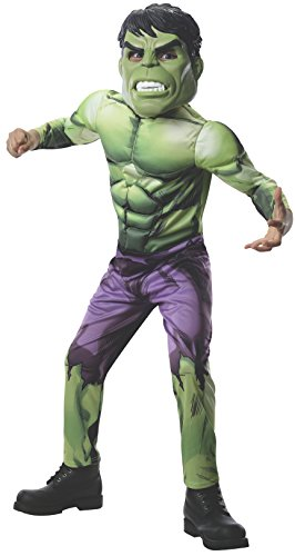 Rubies Marvel Universe Classic Collection Avengers Assemble Deluxe Incredible Hulk Costume, Child Large ()