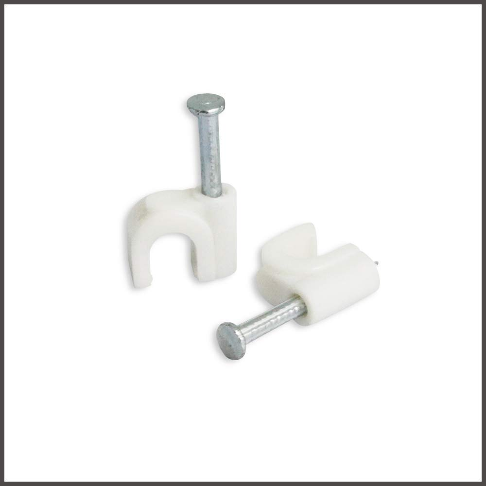 Steren 200-961WH RG-6 Cable Clips