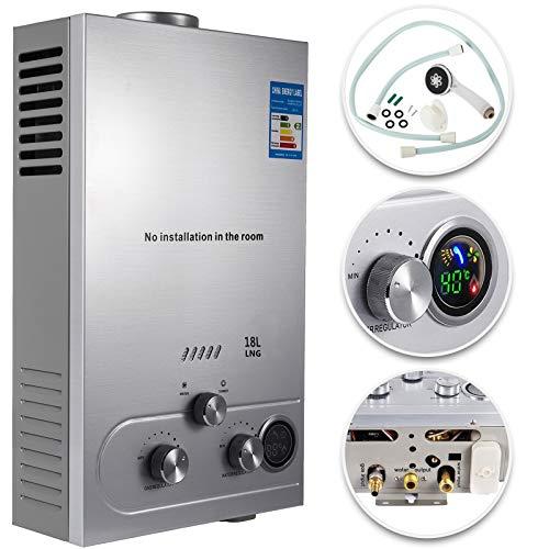 VEVOR Natural Gas Hot Water Heater 18L Tankless Instant Boiler