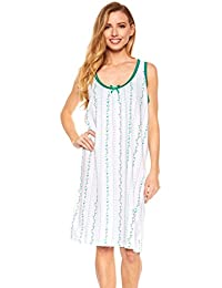 trulee Womens Scoop Neck Night Gown | 100% Cotton Pajamas & Sleepwear | Knee Length Nightshirt