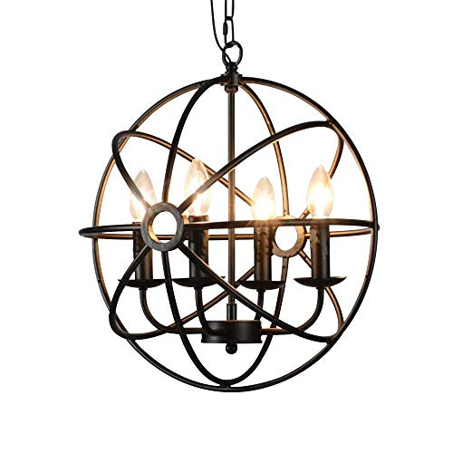 Antique Wrought Iron Pendant Lighting in US - 6