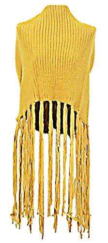 WmN FSHN Women's Stylish Plain Warm Knitted Poncho Pullover Sweater WPH05, Yellow