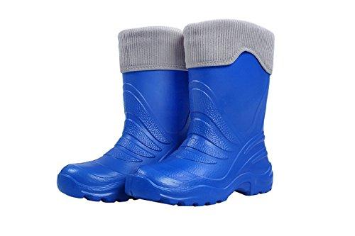 LEMIGO Termix Kinder Gummistiefel Regenstiefel superleicht Azurro (26/27)