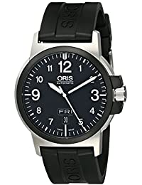 Mens 73576414364RS BC3 Advanced Day Date Black Rubber Strap Watch. Oris