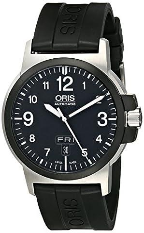 Oris Men's 73576414364RS BC3 Advanced Day Date Black Rubber Strap Watch (Watch Automatic Oris)