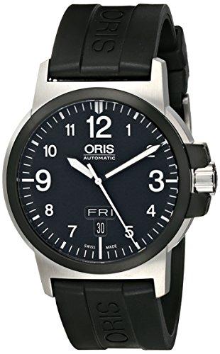 (Oris Men's 73576414364RS BC3 Advanced Day Date Black Rubber Strap Watch)