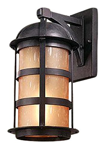 Troy 28955125 Lighting BF9253NB Transitional Aspen Collection in Bronze/Dark Finish 1Lt Wall Lantern Fluorescent, Natural 1lt Fluorescent Wall Sconce
