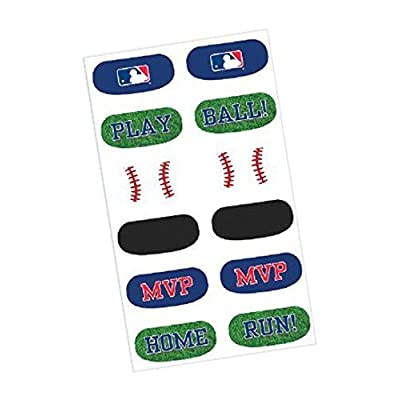 "amscan Baseball Dream Major League Face Tattoos Favour, Paper, 1/2"" x 1""2 (36 Tattoos): Health & Personal Care"