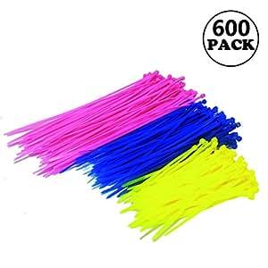 Snncan [600 Pcs] Bridas de Plastico para Cables Alta calidad fuerte nylon Zip Ties Cables Organizador: Amazon.es: Bricolaje y herramientas