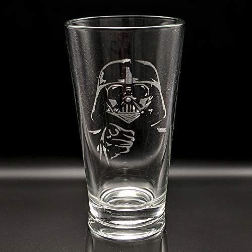 Darth Vader etched glass