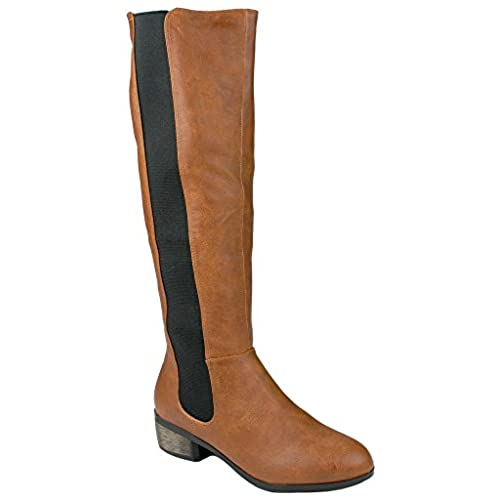 top Women Montage Faux Fur-Lining Side Zip/Pull On Elastic Knee High Riding Boots for sale