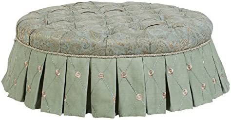 Jennifer Taylor Home Monica Collection Round Hand-Tufted Upholstered Entryway Bench
