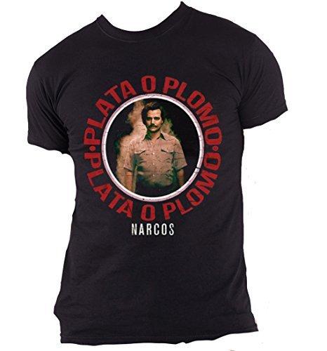 Official Narcos - Plateado O Plomo - Camiseta Hombre 8xVxnVy