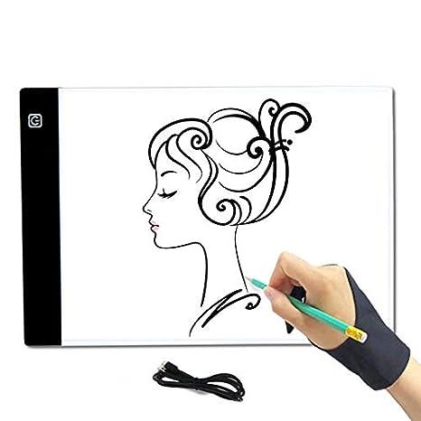 Delisouls - Pizarra Digital portátil para Dibujo, con luz LED ...