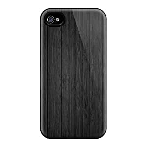 Defender Case With Nice Appearance (black Background Wood) For Iphone 4/4s