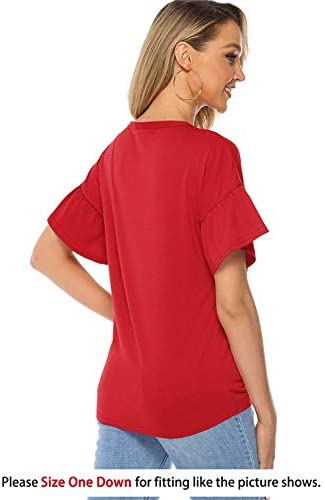 Florboom Casual Summer T-Shirts Tops Blouse for Women Clearance