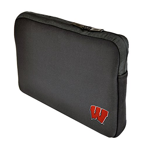 Altego NCAA University of Wisconsin Badgers Neoprene Sleeve 15 Inch to 15.6 Inch with Faux Fur Lining, Embroidered Logo, - Dells Wisconsin Shops