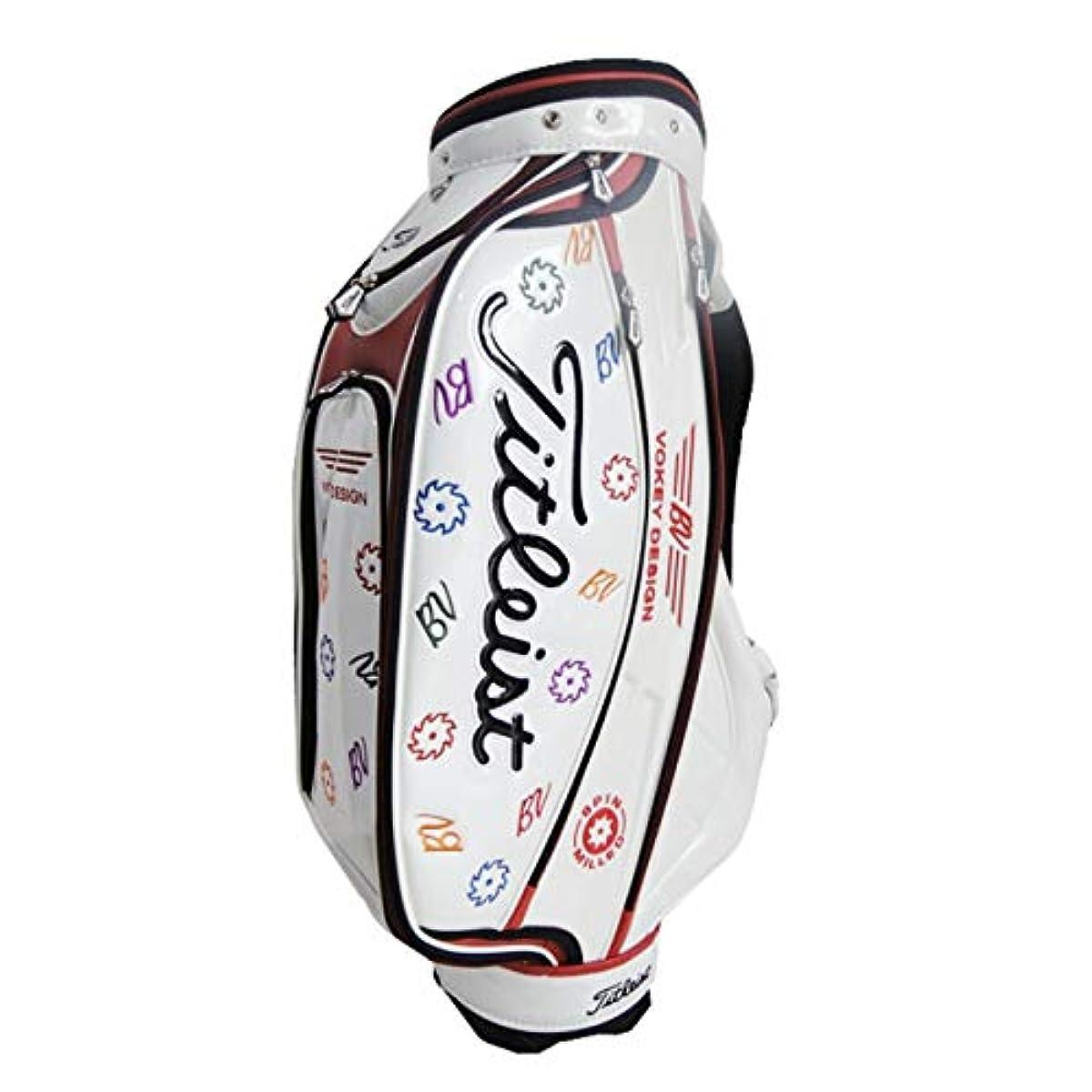 [해외] bow K 캐데이백 PU레져 스포츠 골프 화이트 방수내 마모성 9.5포켓 화이트한정 판매