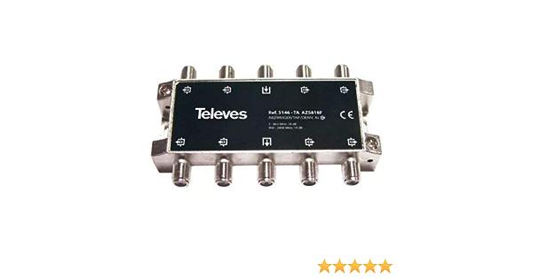 Televes 5146 - Derivador interior 80 con conector f 18db ta