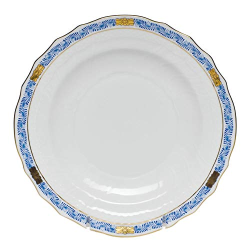 Herend Chinese Bouquet Garland Blue Porcelain Salad Plate Bouquet Blue Salad Plate